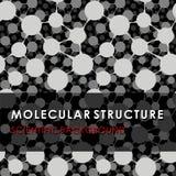 STRUCTURE MOLÉCULAIRE, FOND SCIENTIFIQUE, MODÈLE MÉDICAL, ADN Photo stock
