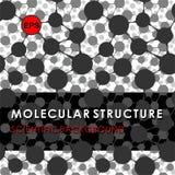 STRUCTURE MOLÉCULAIRE, FOND SCIENTIFIQUE, MODÈLE MÉDICAL, ADN Image libre de droits