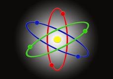 Structure moléculaire, orbitant, symbole, noyau illustration stock