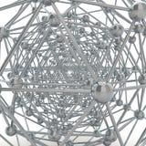 Structure moléculaire réfléchie Photographie stock libre de droits