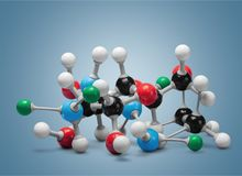Close up of Molecular structure model on light. Structure molecular group objects background concepts equipment Royalty Free Stock Photos