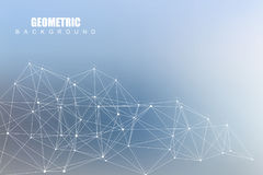 Structure molecule and communication. Dna, atom, neurons. Scientific concept for your design. Connected lines with dots Stock Photo