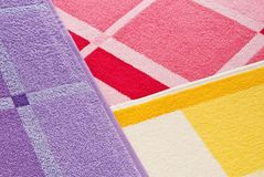 Structure of a multi-coloured towel Stock Photo