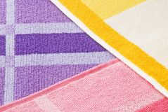 Structure of a multi-coloured towel Royalty Free Stock Photography