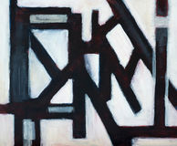 Structure No 1 - an abstract image. An abstract painting, modernist and geometric Stock Images