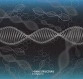 Structure noire et blanche d'ADN de fond illustration de vecteur