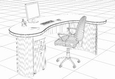 Structure office furniture. Structure of the office furniture Royalty Free Stock Photos