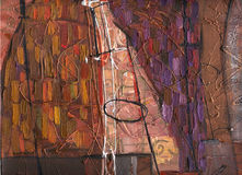 Structure  oil painting. Stock Photography