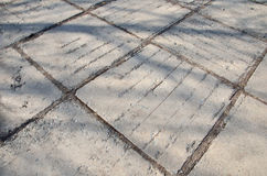 Structure of old sidewalk Royalty Free Stock Photo