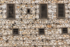 The structure of the old stone house Royalty Free Stock Photo