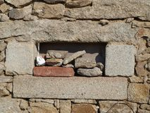 Structure of an old stone wall. Czech Republic Stock Photography