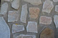 Structure of an old stone wall Stock Image