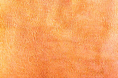 The structure of a orange towel for a background Stock Image