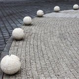 Structure of paving stones on the quay of the Golden Sands, Bulg Stock Photography