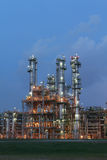 Structure of petrochemical plant in evening scene Stock Photos
