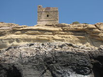 Structure photgraphed from the   Blue Grotto malta Royalty Free Stock Image