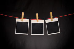 Structure of a photo. The structure of a photo isolated on black Stock Photography