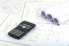 Structure plan, engineering calculations Royalty Free Stock Photos