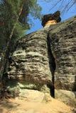Structure Poklicky de roche dans la République Tchèque Images libres de droits