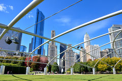 Structure of Pritzker Pavilion at Millennium park, Chicago Stock Photography
