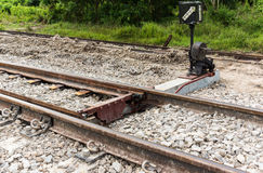 Structure of railroad track Royalty Free Stock Photos