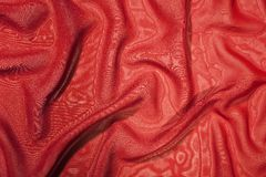 Structure of red satin silk Stock Photo