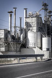 Structure refinery, pipelines and towers, heavy industry overvie Royalty Free Stock Photography