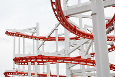Structure of roller coaster rail Royalty Free Stock Images