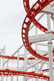 Structure of roller coaster rail Stock Photo