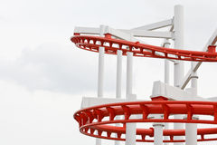 Structure of roller coaster rail Royalty Free Stock Photography