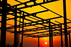 The structure of the roof. Royalty Free Stock Photo