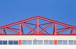 Structure of roof at new industrial building Royalty Free Stock Photography