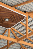 Structure. Of roof with steel and wooden Royalty Free Stock Photography