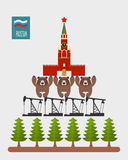 Structure Russia. Moscow Kremlin is based on  three bears. Bears Stock Image