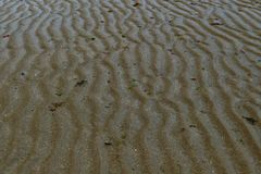 Structure in the sand in france royalty free stock photo