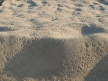 Structure of the sand. South Bohemia, Czech Republic Royalty Free Stock Photo