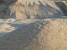 Structure of the sand. South Bohemia, Czech Republic Royalty Free Stock Image
