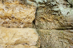 Structure of sandstone cliffs-detail Royalty Free Stock Image