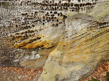Structure of sandstone cliffs-detail Royalty Free Stock Photos