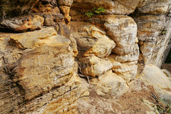 Structure of sandstone cliffs-detail Royalty Free Stock Photography