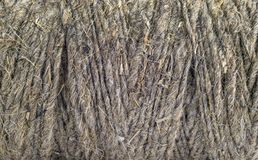 Structure of the skein of thread from natural raw materials royalty free stock photo