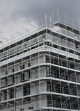 Structure of a skyscraper under construction with the lead Royalty Free Stock Photography
