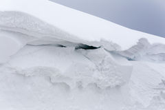 Structure of snow. Wall of packet snow. Structure of snow Royalty Free Stock Photography