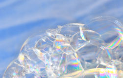 Structure of soap bubbles Stock Images