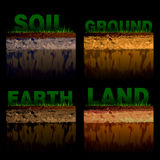 Structure of soil Stock Photography