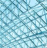 Structure spacieuse de hall d'aéroport Images libres de droits