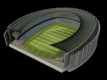 Structure of the Stadium. With Soccer Field Stock Photo
