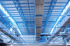 Structure. Steel structure in building Royalty Free Stock Images