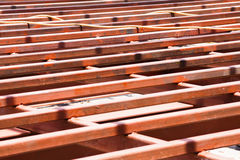 Structure Steel in Construction Site Royalty Free Stock Images
