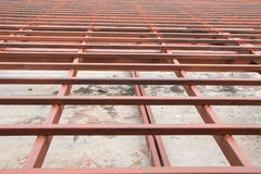 Structure Steel in Construction Site Stock Photos